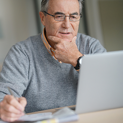 Kentucky River patient using Patient Portal on the computer.